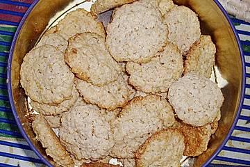 Limetten-Haferflocken-Kekse