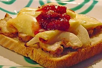 Birnen - Hühnchen - Toast