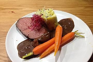 Rinderbraten mit Balsamico-Rotwein-Sauce