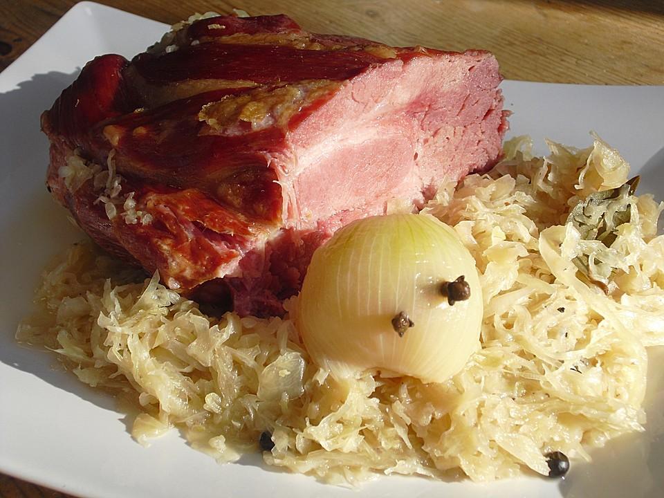Kassler Mit Sauerkraut Backofen Rezepte Schmoren Chefkoch