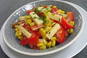 paprika käse salat
