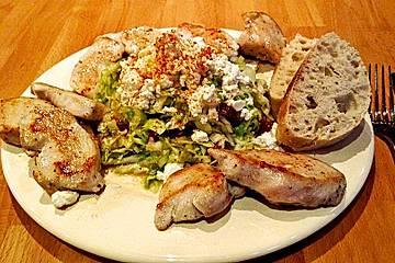 Spitzkohlsalat mit Hähnchenfilet