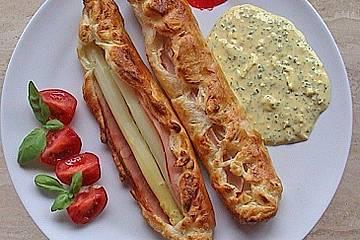 Pietras Spargeltaschen mit Sauce Bozner Art
