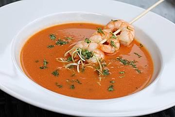 Scharfe Tomaten - Kokos - Suppe