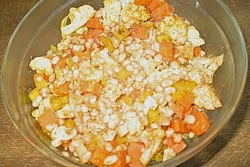 Blumenkohl - Bohnen Gericht