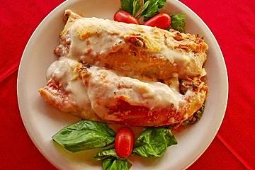 Cannelloni mit Hähnchen - Pilz - Füllung