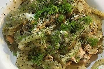 Fenchel - Lachs - Spaghettini