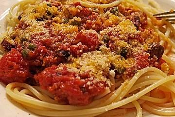 Spaghetti alla puttanesca (da Dario)