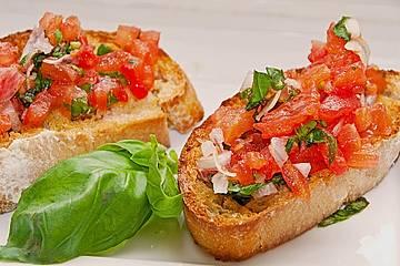 Bruschetta mit Tomaten und Knoblauch