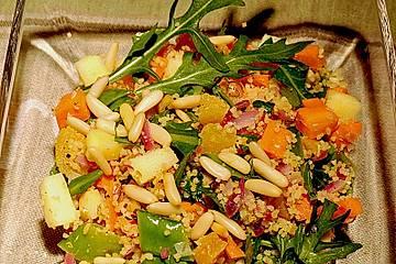 Bulgur - Nuss Salat mit Aprikosen