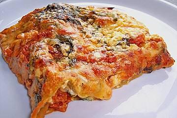 Lasagne mit Feta und Spinat