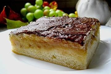 Apfelmuskuchen mit Vanillecreme vom Blech