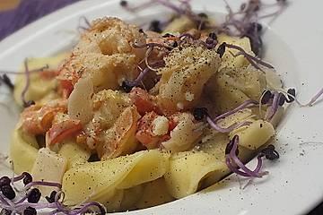 Schnelle Flusskrebs - Pastasauce
