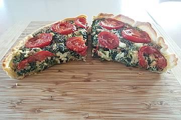 Spinat - Tomaten - Feta Kuchen