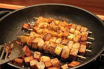 Champignon - Tofu - Spieße