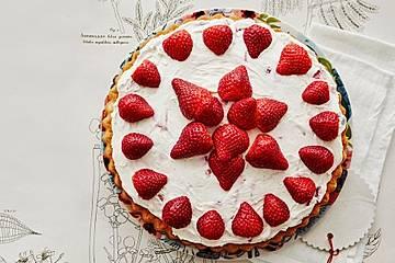 Erdbeer - Mascarpone - Biskuit - Blitz - Kuchen