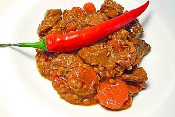 Chili - Gulasch mit Linsen