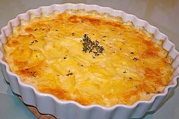 Kartoffelgratin mit frischem Thymian