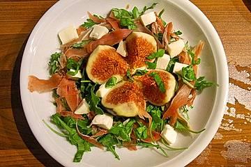 Feigensalat mit Parmaschinken und Mozzarella