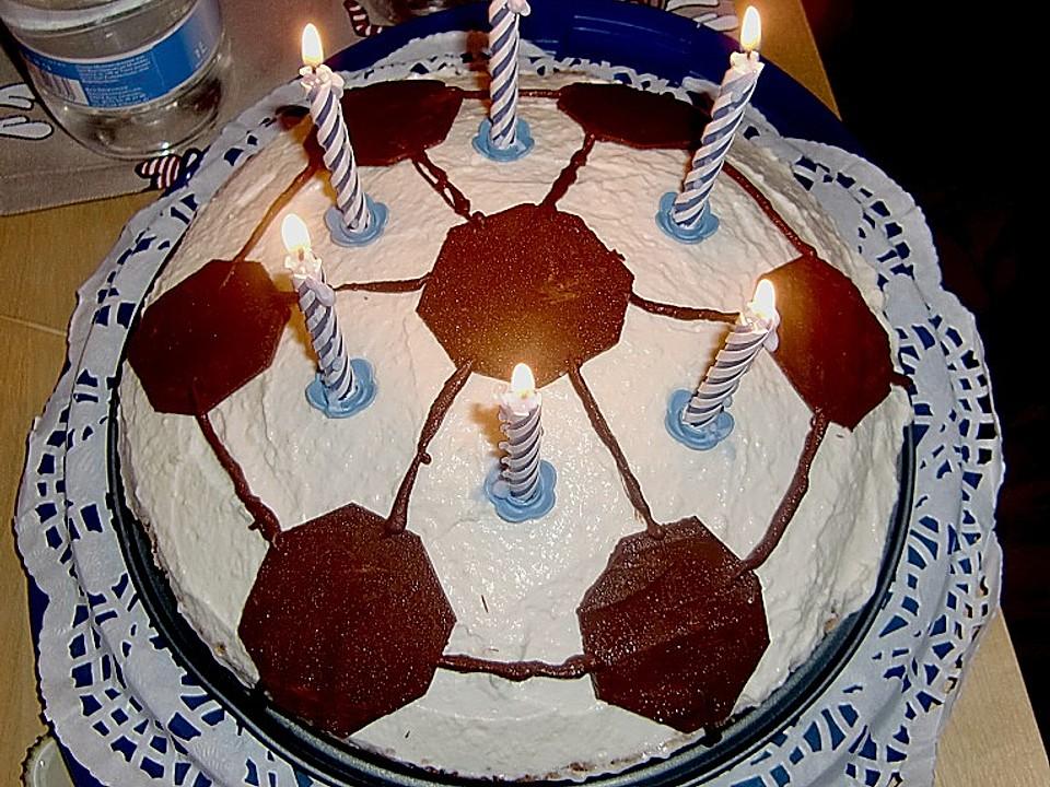 Philadelphia Torte Geburtstags Fussball