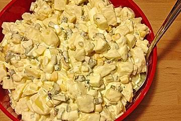 Kartoffelsalat mit Apfel und Ei