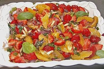 Erdbeersalat in Orangensauce