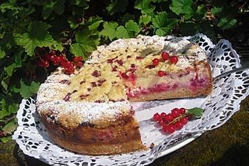 Käse - Streusel - Torte mit Johannisbeeren