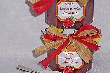 Erdbeermarmelade mit Amaretto