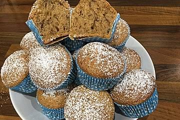 Zucchini Muffins mit saurer Sahne
