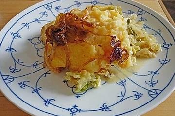 Wirsing - Kartoffelpüree - Auflauf