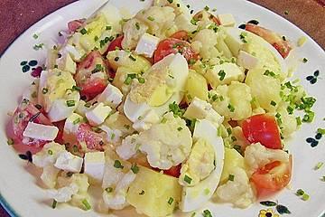 Kartoffel – Blumenkohl – Salat