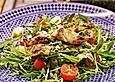 Mango-Rucola-Salat-mit-Ingwerdressing
