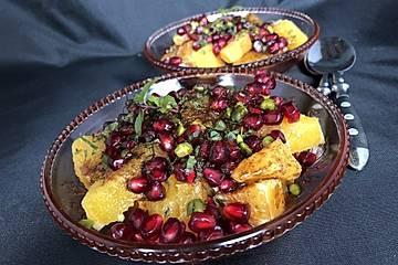 Marokkanischer Orangensalat mit Granatapfel