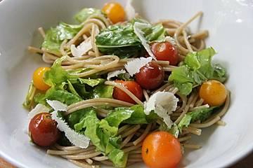 Spaghetti - Rucola - Salat