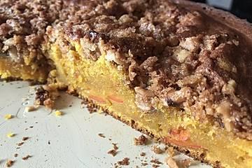 Kürbis Pie - Kuchen mit Walnuss - Streuseln