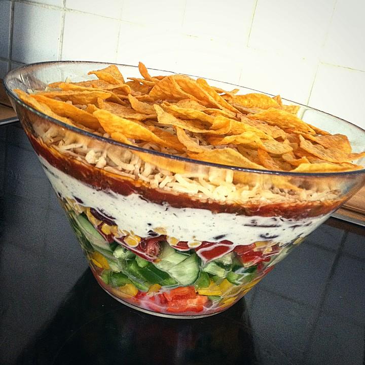 Weihnachtsessen Einen Tag Vorher Vorbereiten.Taco Salat