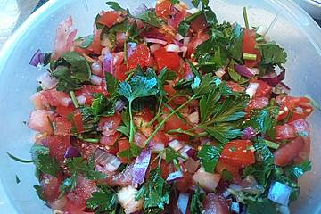 Petersilien - Tomaten - Salat auf Taboulé - Art