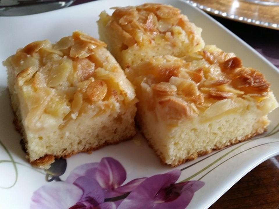 Mit mandeln blechkuchen Apfel