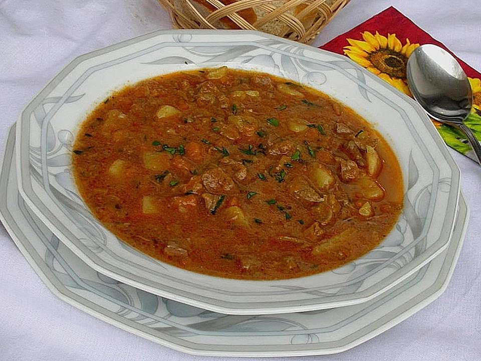 Einfache gulaschsuppe