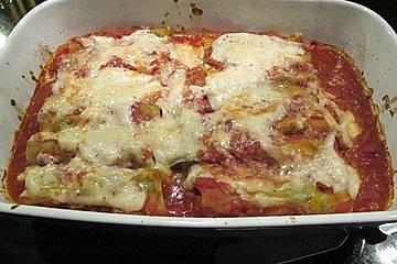 Cannelloni mit Hackfleisch - Spinatfüllung