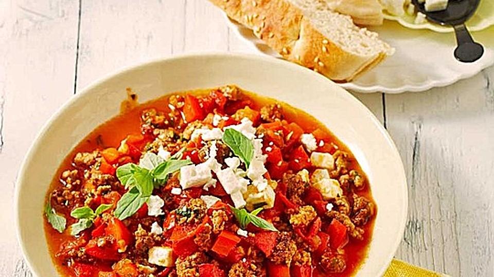 Paprika-Hackpfanne griechische Art von suse2903   Chefkoch
