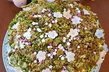 Süßer grüner Spinatkuchen