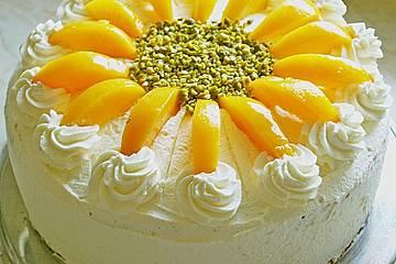 Einfache Topfen - Obers Torte
