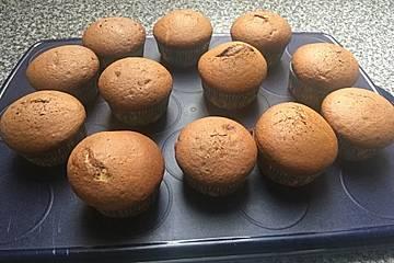 Muffins mit Nutellafüllung und Schokodeckel
