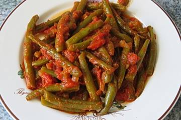 Grüne Bohnen in Tomatensoße