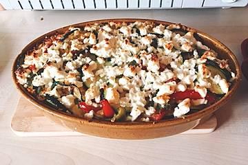 Zucchini - Hackfleisch - Auflauf mit Feta
