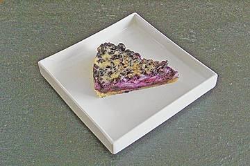 Heidelbeertarte mit Crème fraiche - Guss