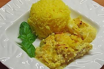 Überkrusteter Curryfisch